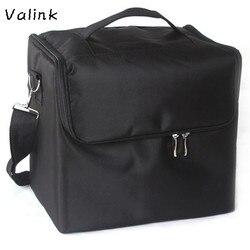 Valink профессиональные сумки для макияжа тканевая сумочка для косметики Портативная сумка для макияжа на плечо Органайзер Trousse Maquillage Femme