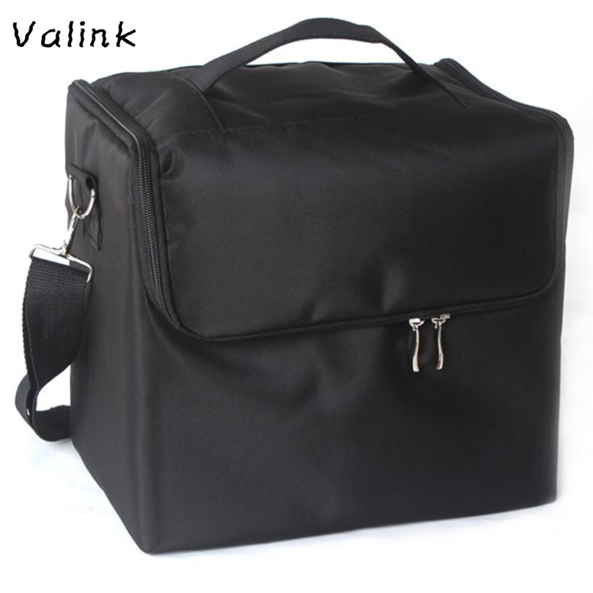 все цены на Valink Professional Makeup Bags Cloth Cosmetic Bag Portable Shoulder Make Up Bag Neceser Organizer Trousse Maquillage Femme онлайн