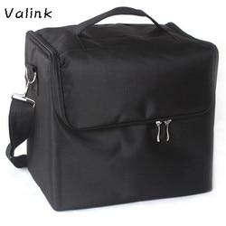 Valink Professional Makeup Bags Cloth Cosmetic Bag Portable Shoulder Make Up Bag Neceser Organizer Trousse Maquillage Femme