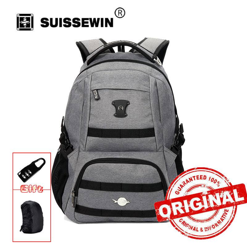 SUISSEWIN Mochilas Backpack Mochila Feminina Brand Laptop Bag Notebook Backpack For Male Female To School Sn7047 automatic power failure of the food grade stainless steel kettle all steel insulated electric