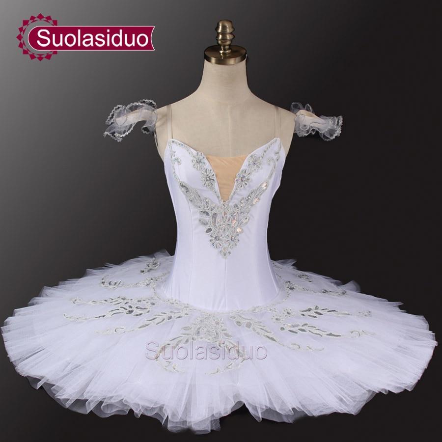 Sleeping Beauty White Professional Ballet Tutu Classical Tutus Swan Lake Stage Costumes SD0033