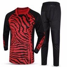 New font b football b font Soccer Jerseys doorkeeper goalkeeper jerseys sets long sleeve tops amp