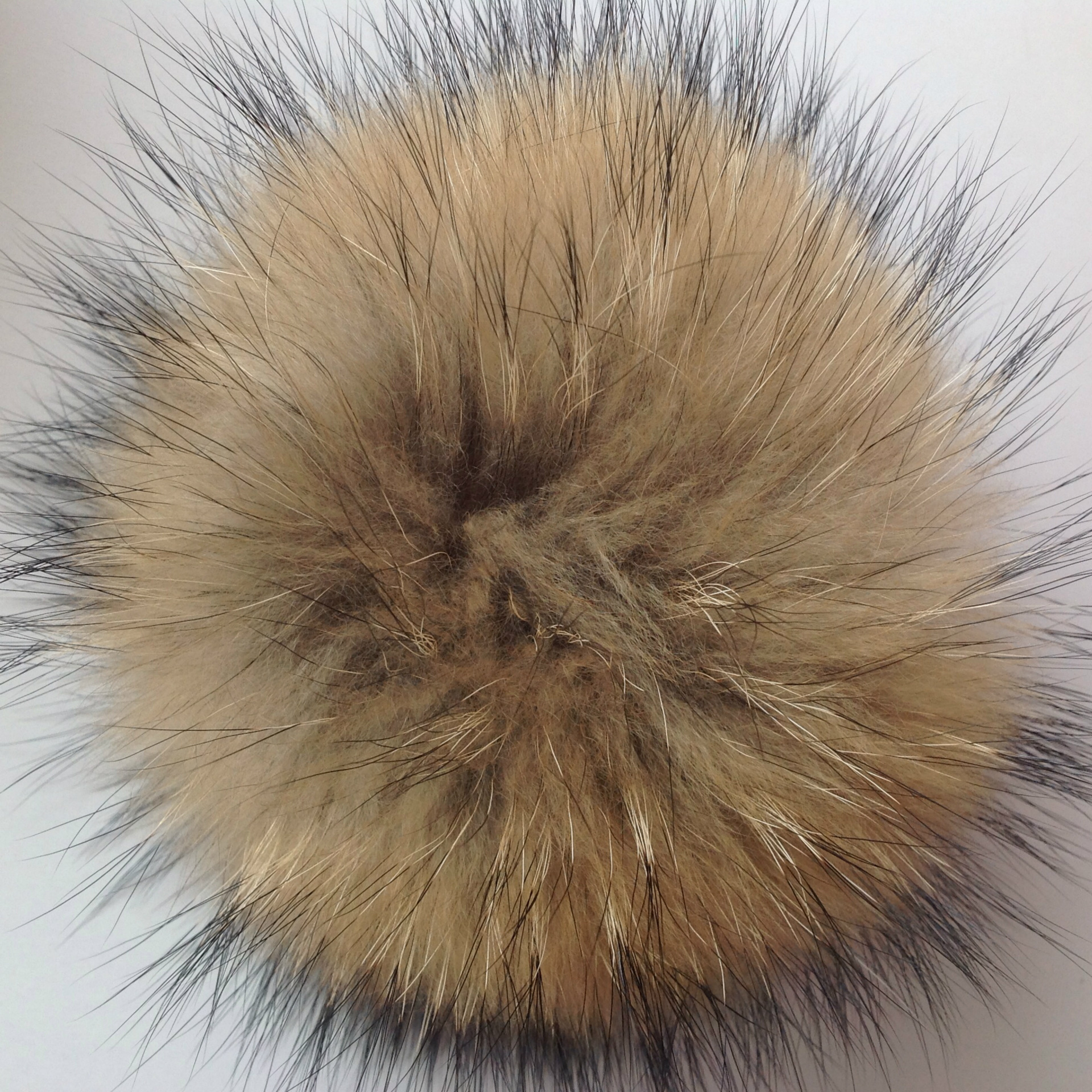 Wholesale 15cm DIY Genuine Real Natural Animal Hairball Fur Pompom For Women Kids Beanie Hats Really Raccoon Large Hair Ball