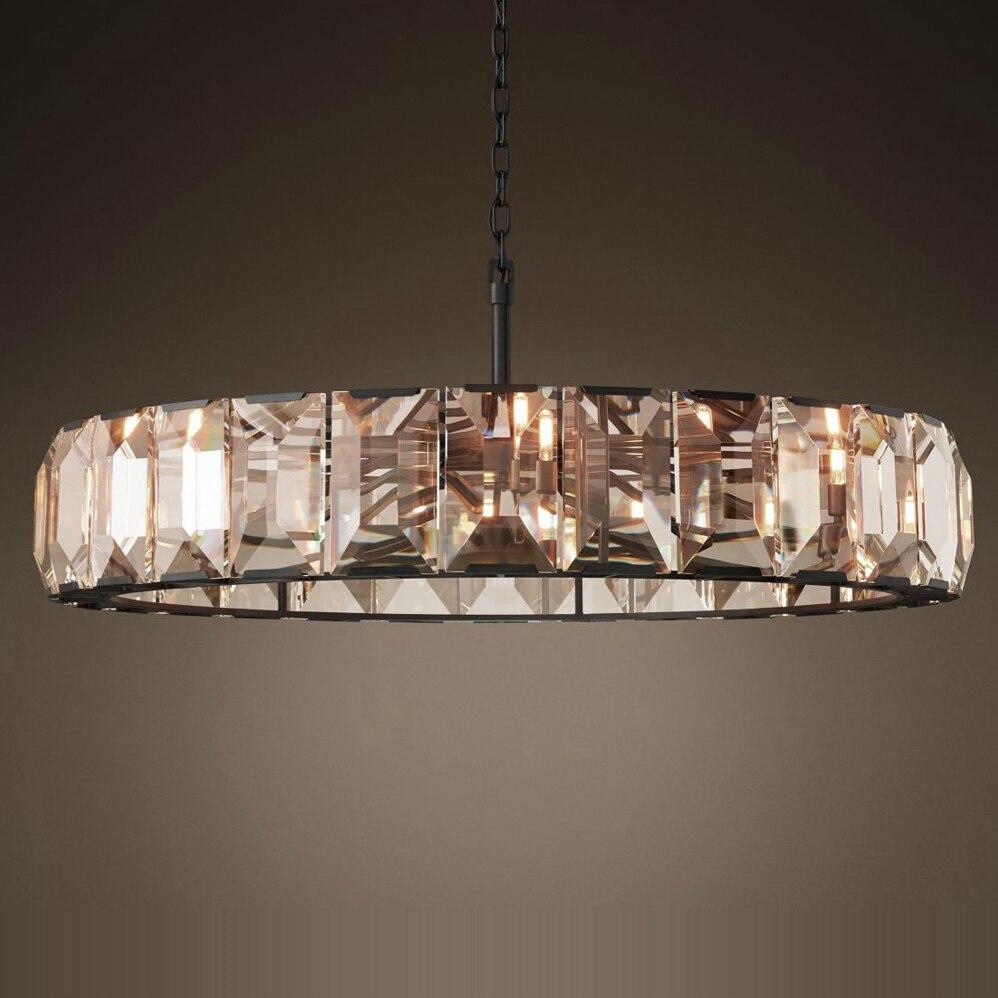 Led E14 Vintage America Iron Crystal LED Lamp LED Light Pendant Lights Pendant Lamp Pendant Light