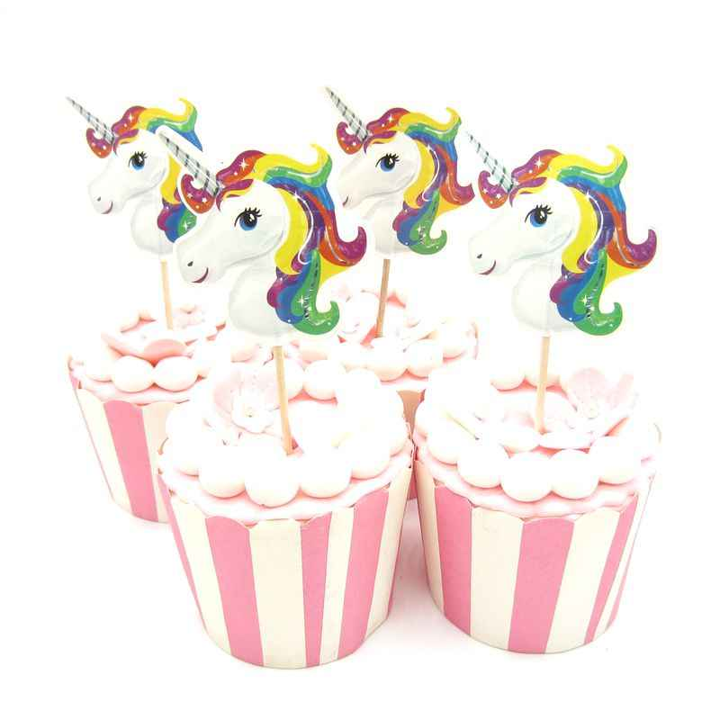 24 шт Единорог кекс pick s для счастливого дня рождения украшения Рождественские украшения для дома украшение для десертов