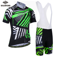 SllLENYOND 2018 Summer Men S Bicycle Clothes Quick Dry Polyester Cycling Jerseys Set Bib Bike Maillot