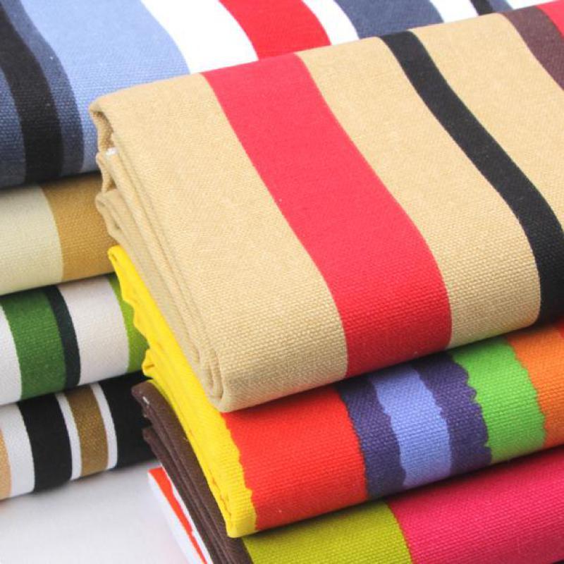 Runway Striped Canvas Fabric For Cushions Floral Canvas Bag Plain Texitle Sofa Pillow Patchwork Jacquard Linen Cloth Telas Tissu