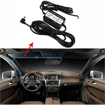 Vehicle Step-down Line for Car Dvrs Monitor Parking Wire Transformer Cable 12V To 5V 2.5A Long 3 Meters for Car Video Recorder image