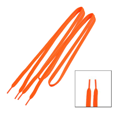 Trainers Replacement 8mm Wide Orange Flat String Shoelace Pair 45 neon orange 5 16 flat shoelace for all basketball shoes