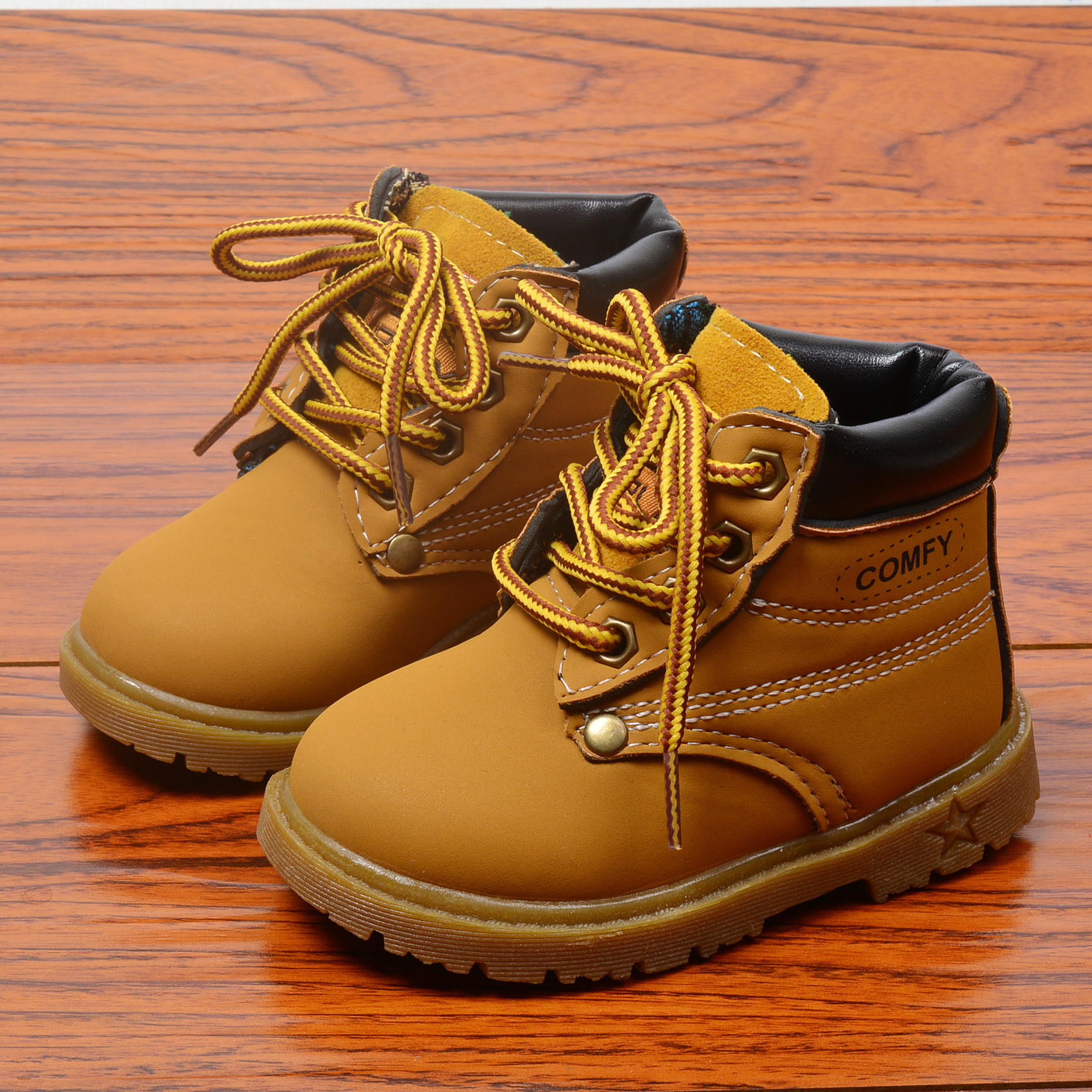 2019 New Fashion Children Mustard Martin Boots Toddler Boys Ankle Boots Girls Shoes Kids Boots  Hot Sale
