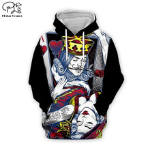 PLstar Cosmos king and Queen 3D Printed Hoodie Mens Womens hip hop apparel boy for girl hoodies poker jacket Plus size XS-7XL