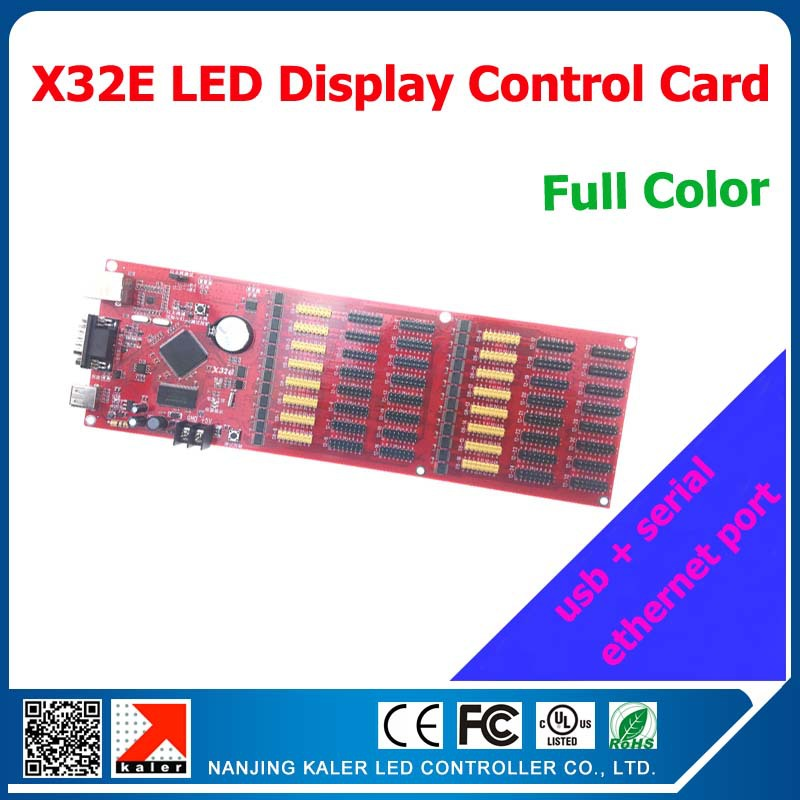 kaler China factory supply X32E display control card with usb ethernet serial import full color running message led control card