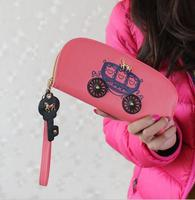 Kadın Cüzdan Stereo Görüntü Mozaik Baskı Kadınlar Çanta Midilli Araba Anahtarları Kolye Fermuar Bayanlar Uzun Cüzdan Kart Sahibinin WNB039