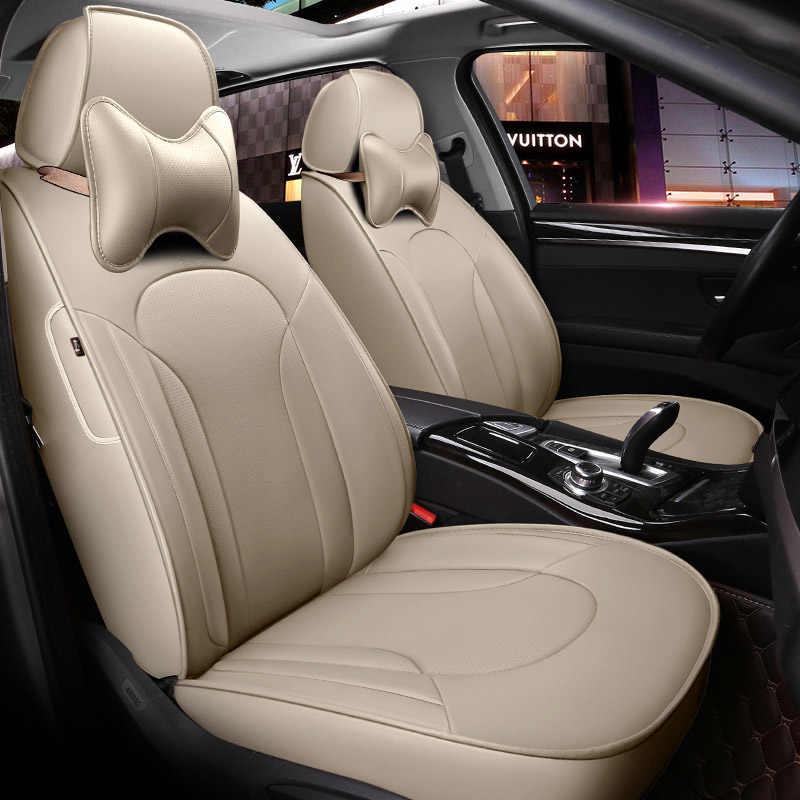 Wykonane na zamówienie/skórzane pokrowce na siedzenia samochodowe dla SsangYong Korando Actyon Rexton przewodniczący Kyron akcesoria samochodowe stylizacja samochodu