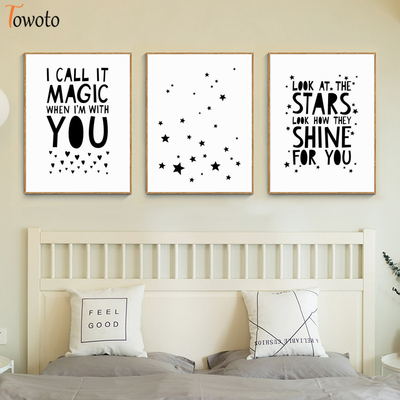 Bedroom Frameless Inspirational Quotes Decor Print Wall Saying Art Pictures