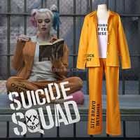 2016 NEW Movie Suicide Squad Harley Quinn Female Yellow Cosplay Costume Clothing Halloween Anime Jacket One