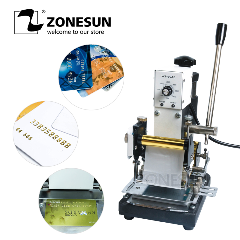 ZONESUN Hot Stamping Machine For PVC Card Member Club Hot Foil Stamping Bronzing Machine For Logo Trademark
