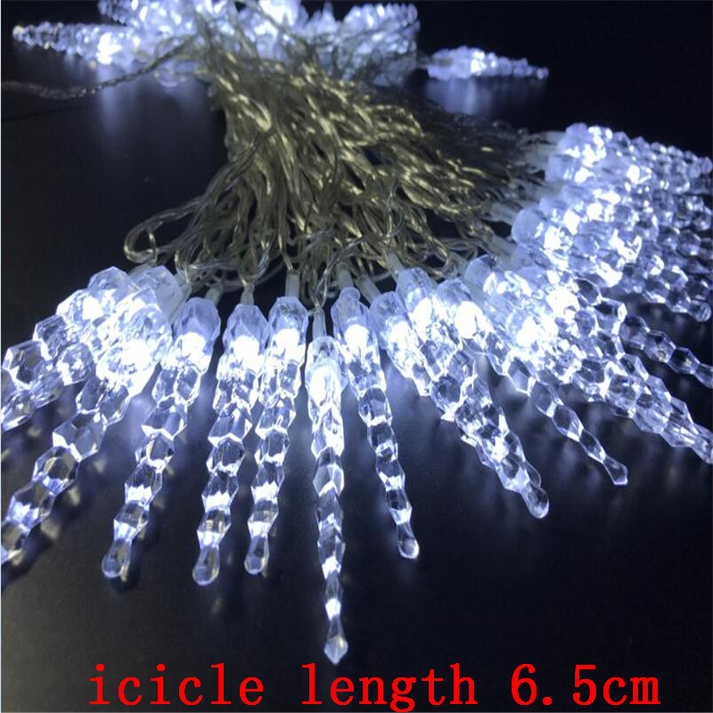 10M 50 LED Icicle String Lights Nytt År Jul Xmas Bröllopsfest Led - Festlig belysning - Foto 6