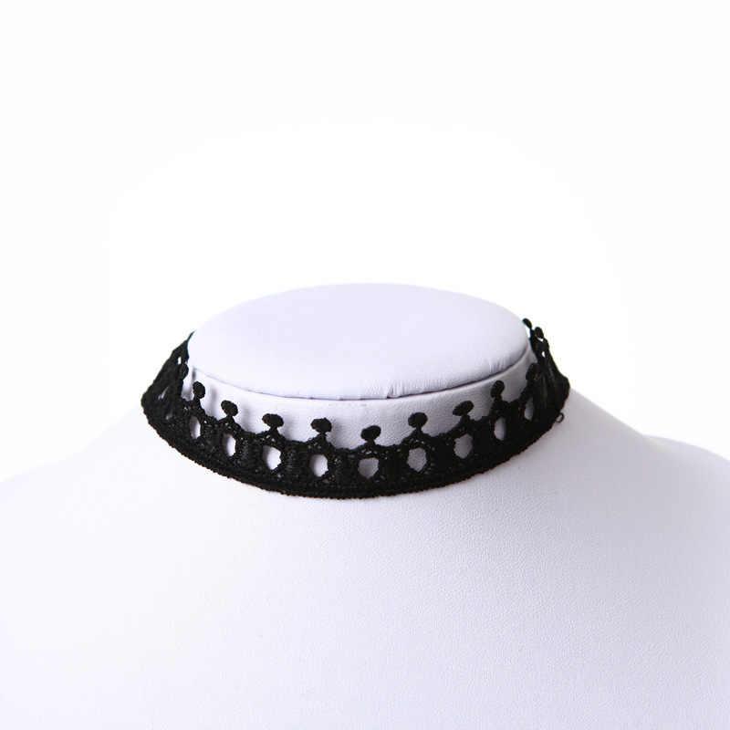 Gwiazda gothic korona hollow kropelki wody koło kołnierz krótki akapit łańcuszek do obojczyka panie biżuteria naszyjnik kobiety