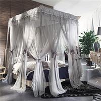 Романтическая кружевная двухъярусная трехдверная кровать с противомоскитной сеткой, полный Королевский размер, предотвращает комаров, по