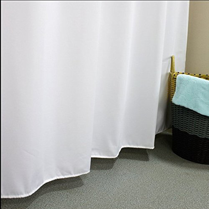 Elegant Waterproof White Polyester Fabric Extra Long Shower ...
