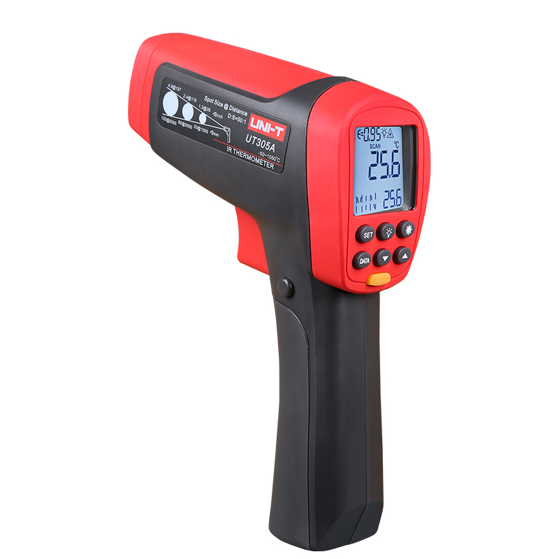 UNI-T UT305A 50:1(D:S) Non Contact Infrared IR Thermometer Laser Temperature Gun Meter Range -50~1050 Degree