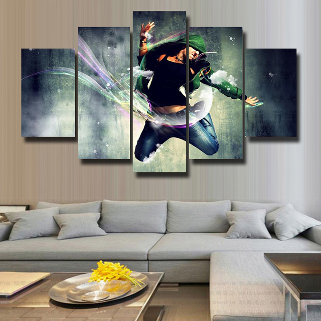 5P Wall Art Paintings Canvas Print Living Room Decoration HD Poster Picture Modern Theme