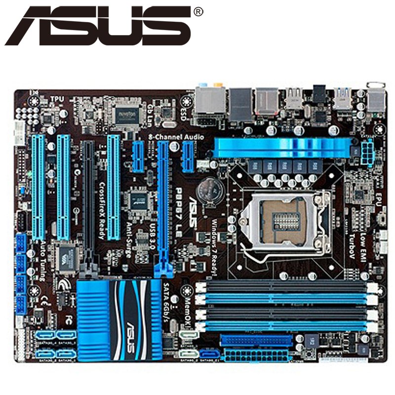 Asus P8P67 LE Desktop Motherboard P67 Socket LGA 1155 i3 i5 i7 DDR3 32G ATX UEFI BIOS Original Used Mainboard On Sale asus p5ql cm desktop motherboard g43 socket lga 775 q8200 q8300 ddr2 8g u atx uefi bios original used mainboard on sale