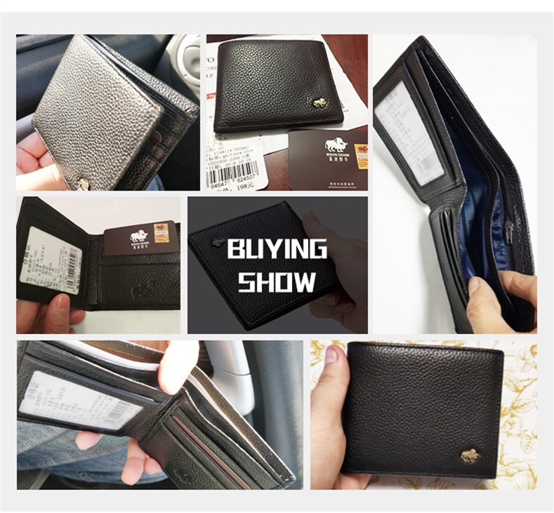 HTB1wuRNazzuK1RjSsppq6xz0XXar - BISON DENIM Genuine Leather Men Wallets Brand Luxury RFID Bifold Wallet Zipper Coin Purse Business Card Holder Wallet N4470