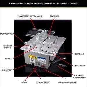 Image 2 - Scie détabli, table de précision multifonctionnelle, Miniature, micro machine de découpe T6, Q10032