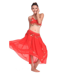 Image 5 - Belly Dancing Stage Performance Oriental Belly Dancing Clothes 2pieces Suit Top Shirt + Skirt Belly Dance Costume Set White