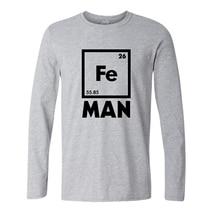 Iron Science T Shirt Funny Chemistry Shirt Fe Periodic Table tee shirt fashion creative t shirts autumn long sleeve cotton tops