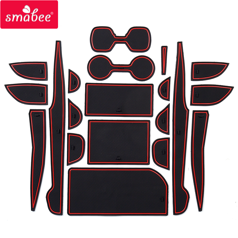 Smabee Anti-Slip Gate Slot Mat For TOYOTA CAMRY 2018 2019 2020 XV70 70 Interior Accessories 20pcs Cup Holders Non-slip Mats