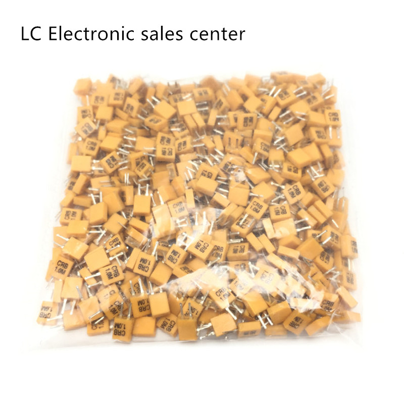 20pcs In-line Ceramic Crystal CRB1.0M 1MHZ 1.000MHZ 1M 2 Feet