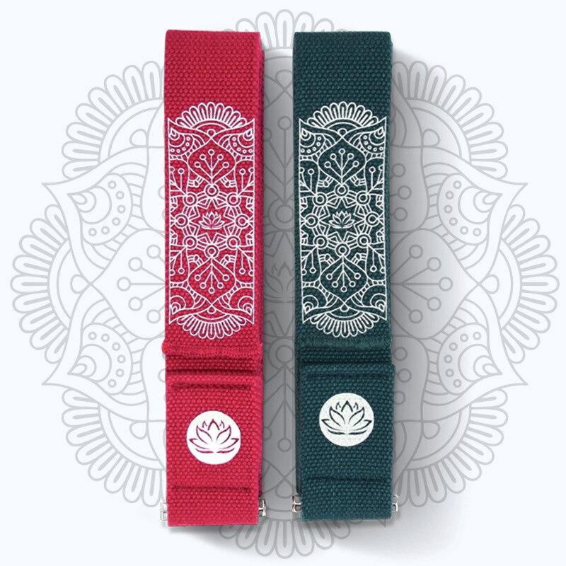 Mandara Yoga Strap Yoga Belt 250cm*4.2cm*2mm Cotton Yoga Stretch Belt Fitness Resistance Exercise Rope Pilates Gym Accessories belt