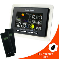 Wireless Sensor Weather Station RCC Receiver 8 Function Keys 5 State Weather Forecast Temperature Humidity Indicator