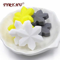 TYRY HU 15pcs Bpa Free Food Grade Loose Silicone Teether Beads For DIY Bracelets Chewing Jewelry