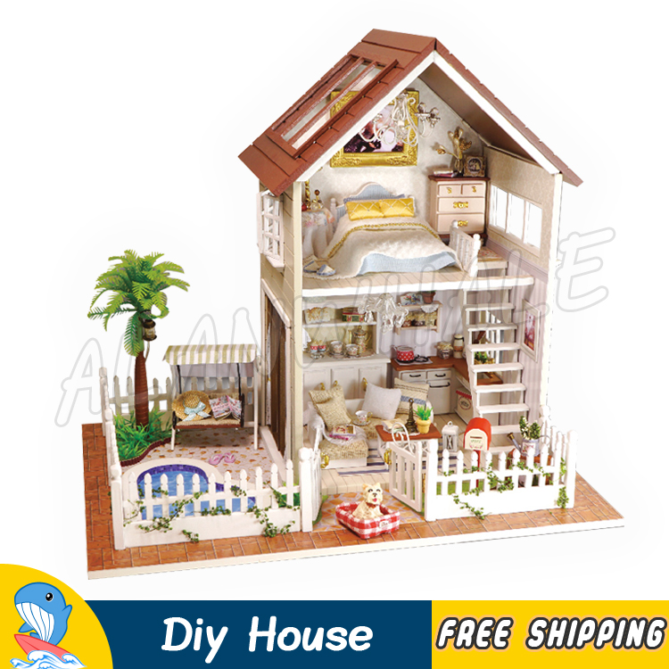 Miniature Doll House Paris Apartment DIY Unisex Wooden Dollhouse With Furnitures Adult Teenager Toys Model Building Gifts Sets mylb assembling diy miniature model kit wooden doll house paris apartment house toy with furnitures