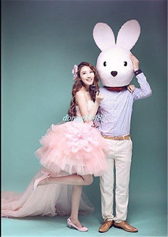 Publicité carnaval lapin de pâques mascotte Costume juste tête costumes tenues Cosplay partie jeu robe adultes taille vacances