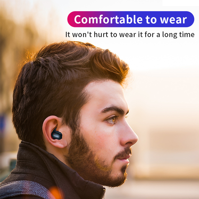 T2C TWS Wireless Mini Bluetooth Earphone For Xiaomi Huawei Mobile Stereo Earbud Sport Ear Phone With Mic Portable Charging Box Audio Audio Electronics Electronics Head phone Headphones & Headsets color: Black|White