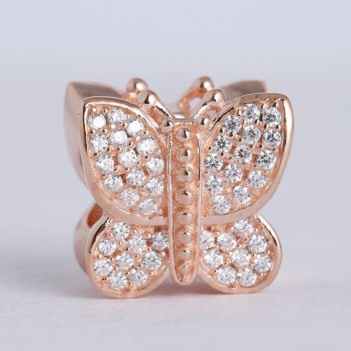 Pandora Butterfly Earrings: Fits Pandora Charm Bracelet 925 Sterling Silver Jewelry