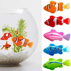 Electronic Fish Toy Battery Robot Swim Kids Bath Toy Pet Fishing Decorating for Act Like