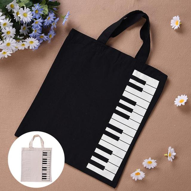 Portable Cotton and Linen Music Score Bag Keyboard Pattern Musical Bags  Musical Instruments Appliance Bag Musical Bags Drop Ship on Aliexpress com  |
