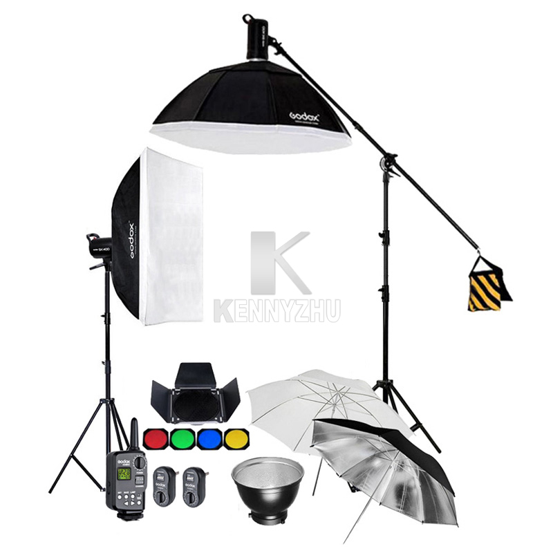 2x Godox SK400 400WS GN65 Studio Flash Strobe Lighting Kit 60x90cm 95cm Softbox 2 8M Light