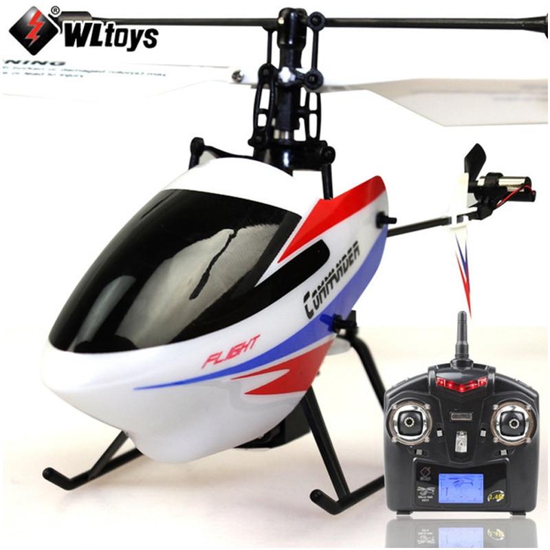 (Met twee batterijen) Originele WLtoys V911 Pro (V911 2) 4CH RC Helicopter met Gyro 2.4GHz Elektrische Speelgoed voor Kinderen RTF-in RC Helikopters van Speelgoed & Hobbies op  Groep 1