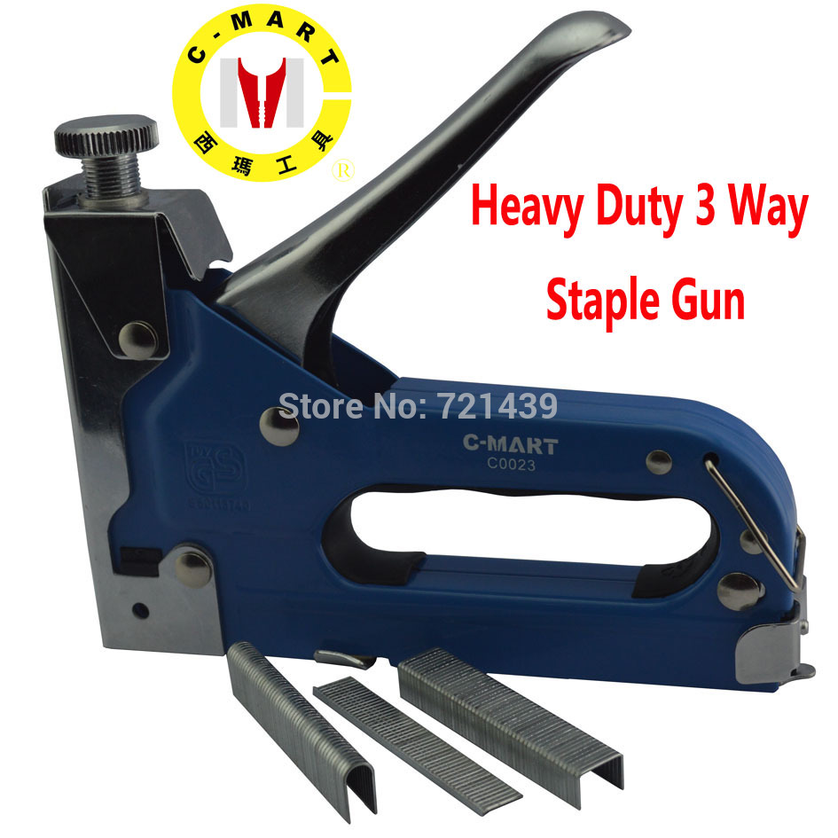 C-MART Power Tools Heavy Duty 3 Way Staple Gun Nail Gun Stable Setting Deivce C0023 Hand Tools