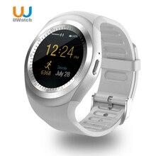 Y1 UWatch Bluetooth Reloj Inteligente Podómetro Sleep Monitor Con Whatsapp Facebook Hombres Mujeres 1.54 pulgadas de Pantalla Táctil Para IOS Android
