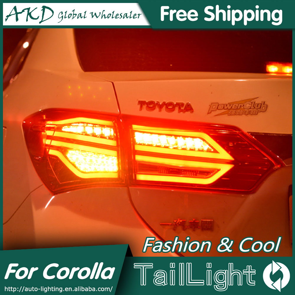 AKD Car Styling Tail Lamp for Toyota Corolla Tail Lights 2015 Altis LED Tail Light GLK Design Rear Lamp DRL+Brake+Park+Signal jgd brand new styling for mitsubishi pajero sport tail lights 2009 2015 led tail light rear lamp led drl singal car lights