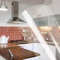 Yazi Mm Klar Vinyl selbstklebende Aufkleber Küche Einheiten Schranktür Abdeckung Zähler Top Abdeckung Fliesen Aufkleber 60x250 CM 60x500 CM