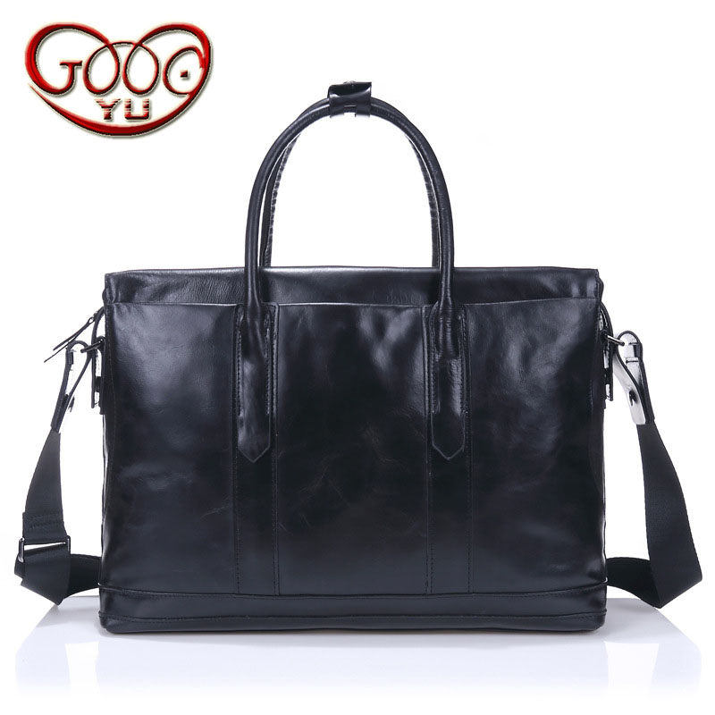 Men's Cross-section Leather Large-capacity Baggage Bag First Layer Leather Japan And South Korea Business Computer Bag